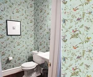 Papier Peint Pour Wc : tapisserie wc toilettes best fabulous decoration toilette ~ Nature-et-papiers.com Idées de Décoration