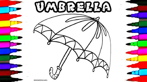 How To Draw And Color Kids Umbrella Coloring Pages L Girls