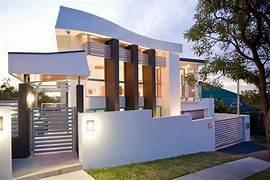 Minimalist One Storey House With Modern Art Fotos De Casas Im Genes Casas Y Fachadas