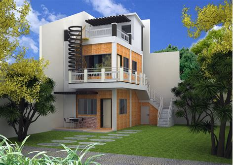 story house plans roof deck modern house plan modern