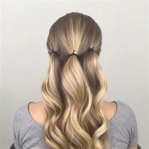 easy updos  long layered hair