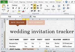 how to easily create wedding invite list in excel With wedding invitation tracker template