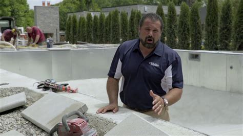 pool coping installation preparation  adhesion youtube