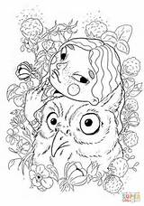 Owl Coloring Pages Printable Drawing Neo sketch template