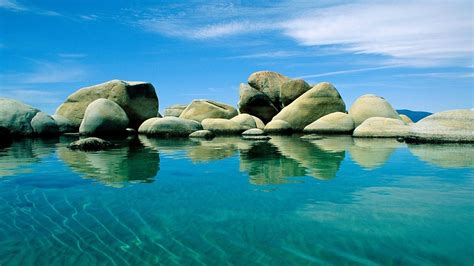 full hd wallpaper adriatic sea stone clear water blue
