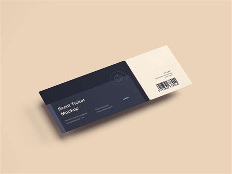 event ticket mockup   mockup