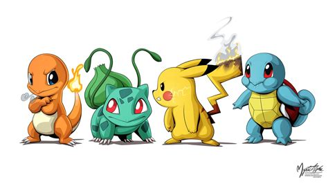 Charmander Squirtle Bulbasaur Wallpaper Pokemon Group By Mysticalpha On Deviantart