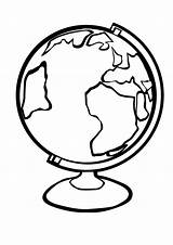 Globe Coloring Pages Earth Clipart Printable Template Stand Number Toddler Map Save Planet Eps sketch template