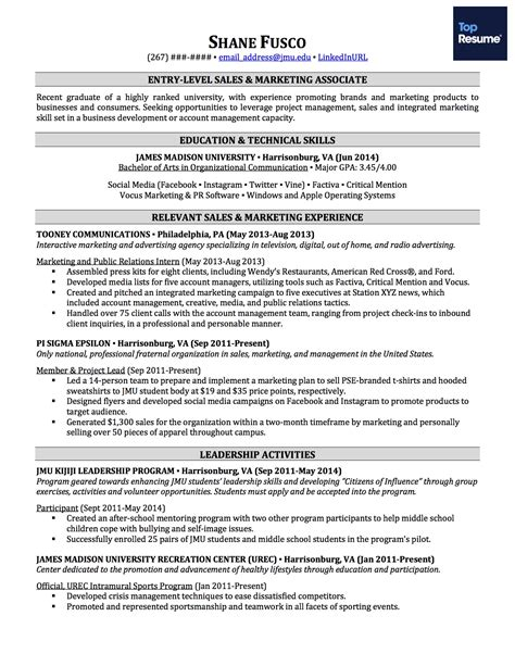 write  resume   job experience topresume