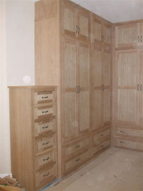 shaped fitted oak wardrobe gallery thorne woodworking