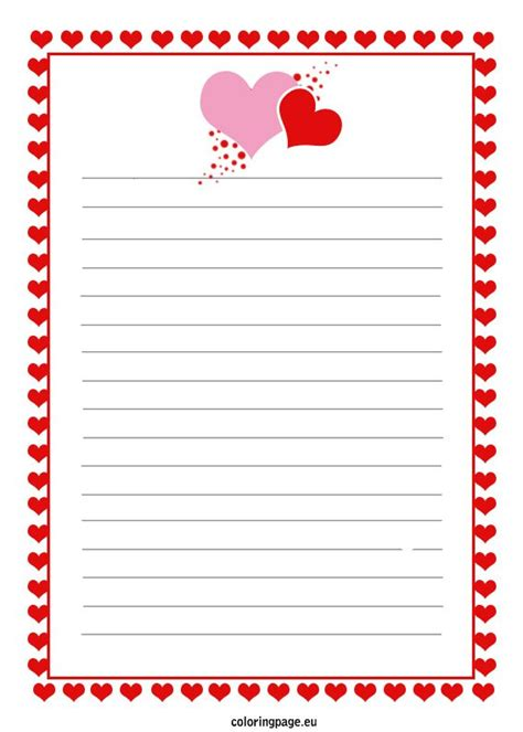 Free Printable Love Letter Coloring Page