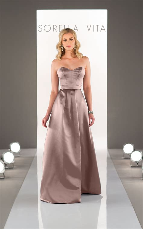 satin bridesmaid dress sorella vita