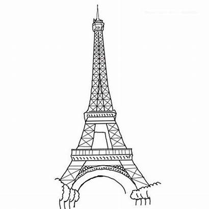 Eiffel Tower Coloring Amazing Pages Drawings