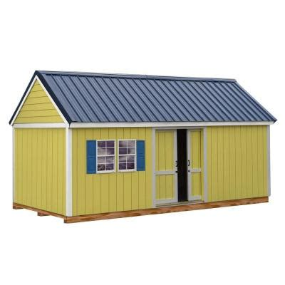 arrow woodahven 10 ft x 14 ft steel storage shed with