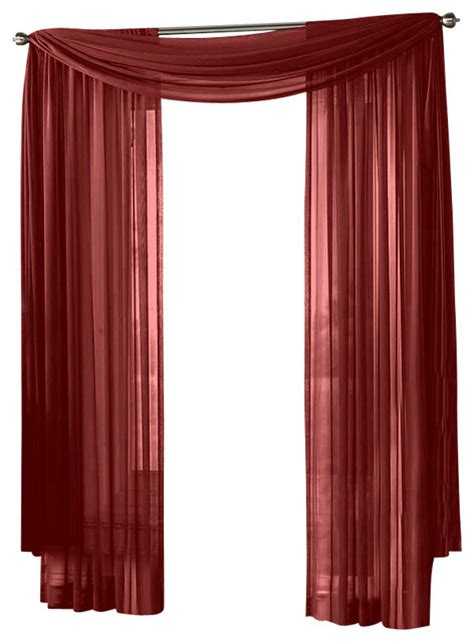 hlc me sheer curtain window burgundy panel traditional