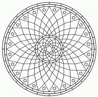 Mandala Coloring Pages Geometric Designs Adult Adults