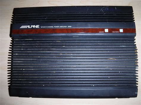 Alpine 3566 Amplifier 6/5/4/3 Channel Amp,made In Japan