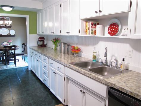 And Here Is A Look At Those Ugly Counters Before I Painted