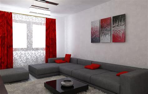 wohnzimmer farblich gestalten in rot bilder 3d interieur wohnzimmer rot grau 6