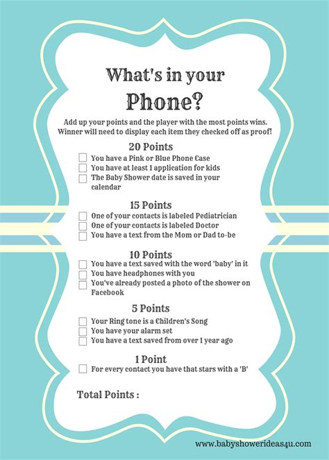 modern whats   phone baby shower printable