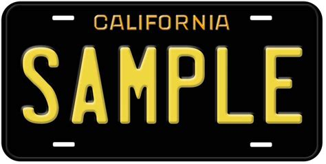 California Licence Plate Search by Black California Any Name Novelty Car License Plate Ebay