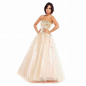 Champagne prom dresses dressed up girl for Prom wedding dresses