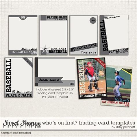 Trading Card Template Front By Blackcarrot1129 On Who S On Trading Card Templates By Libby Pritchett