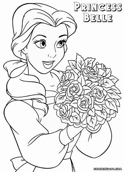 Belle Coloring Princess Pages Cartoon Princessbelle