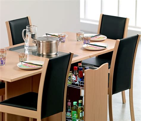 Space Saver Dining Set To Create Accessible Dining Space