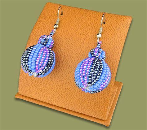 Bobble Earrings earrings bobble bobble earrings lillac blue metallic