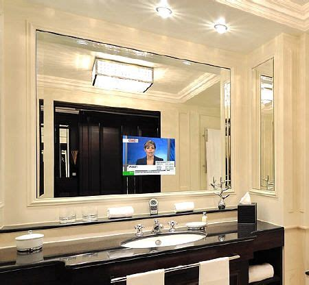 Tv Bathroom Mirror by Get Up On The News While Getting Ready How To Fit