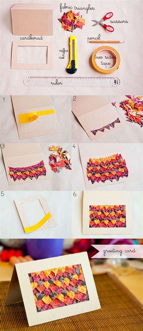 diy fabric triangles greeting card diy projects usefuldiycom