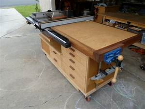 Phil's Tablesaw Work Station - The Wood Whisperer