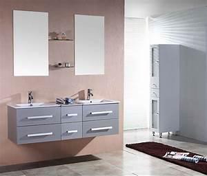 Meuble Salle De Bain Gris : salle de bain meuble riviera2 gris meuble salle de ~ Preciouscoupons.com Idées de Décoration