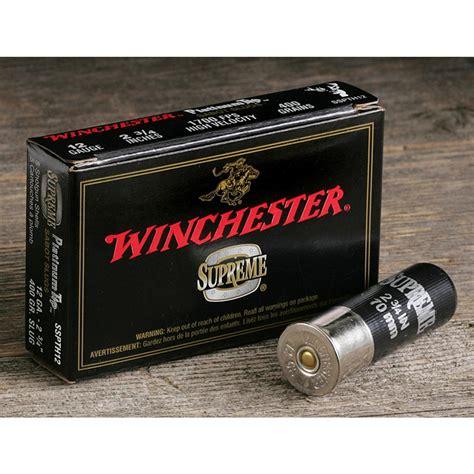 winchester supreme winchester 174 supreme 174 platinum tip 260 gr slugs 20 ga