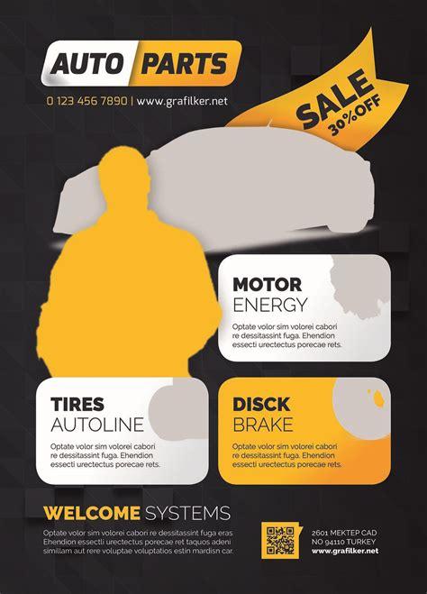 auto spare parts flyer design