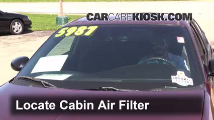auto air conditioning service 2002 chevrolet monte carlo on board diagnostic system cabin filter replacement chevrolet monte carlo 2000 2005 2002 chevrolet monte carlo ls 3 4l v6