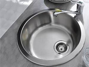 Petit évier Cuisine : petit vier rond en inox pour la cuisine photo 20 20 pour les plans de travail avec un ~ Preciouscoupons.com Idées de Décoration