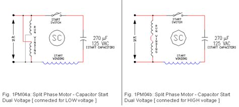 Dual Voltage Motor Diagram Wiring by 1 Phase Motor Drawings 1 Ecn Electrical Forums