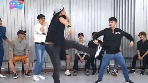 exo infinity challenge watch quot infinite challenge quot members teach exo how to dance