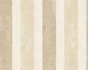 vliestapete muster beige olegoffcom With balkon teppich mit schöner wohnen tapete streifen