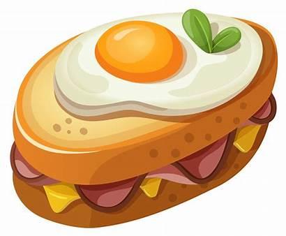 Sandwich Clipart Egg Breakfast Drawing Fast Clip