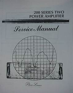 Phase Linear Pl 200 Series Ii Amplifier Service Manual