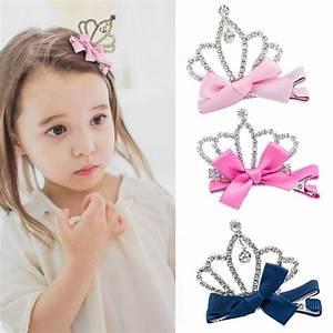 1 PC Bow Princess Hairpin New Fashion Crystal Hair Clips