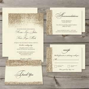 gold glitter wedding invitations gold glitter wedding invitation set printable digital files 2239023 weddbook