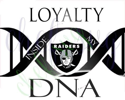 oakland raiders loyalty in my dna svg quote quote overlay