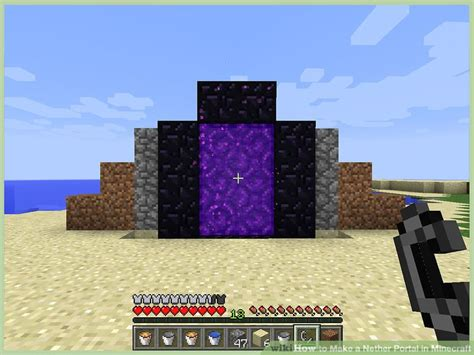 how to make a nether portal in minecraft pc ps4 how to make a nether portal in minecraft with pictures Nether