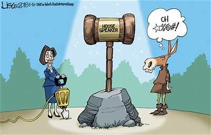 Pelosi Cartoon Speaker Sword Stone Lisa Benson