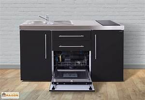 Meuble Lave Vaisselle : mini cuisine avec frigo lave vaisselle et vitroc ramiques mpgs160 stengel ~ Teatrodelosmanantiales.com Idées de Décoration