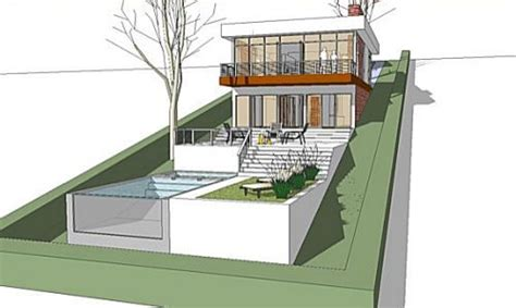 Inspiring Steep Hillside House Plans Photo by Steep Slope House Plans Sloped Lot House Plans With